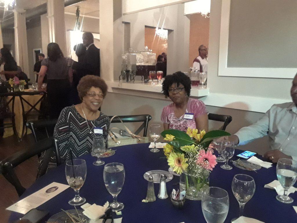 R. Jones and E. Brooks- enjoying Opening Reception